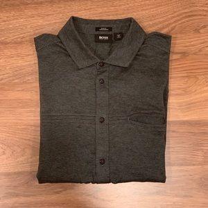 Hugo Boss L/S Slim Fit Causal Dress Shirt Size L